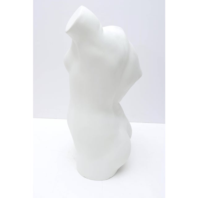 Mid 20th Century Large Scale Nude Female Torso Sculpture in Cast Plaster For Sale - Image 5 of 10