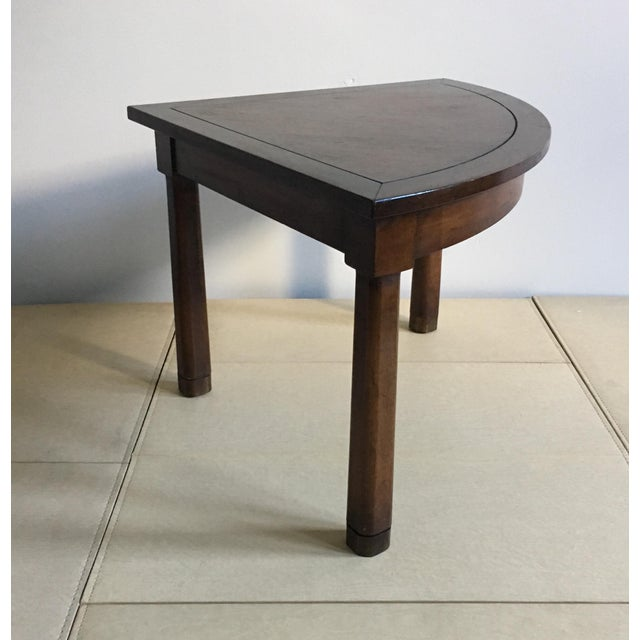 Brown Mid Century Corner Table With Reverse Tapered Legs For Sale - Image 8 of 11