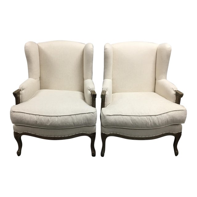 Pacific Direct Marie Armchairs, a Pair - Image 1 of 11