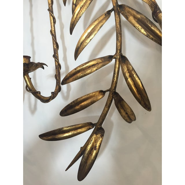 Italian Gilt Metal Wall Sconce Candle Holder For Sale In Los Angeles - Image 6 of 6