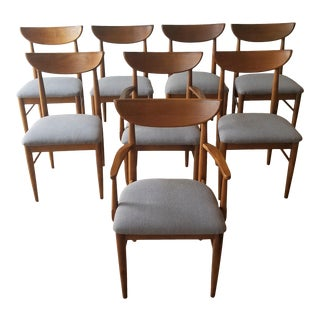 1960s Mid-Century Modern Walnut Dining Chairs - Set of 8 For Sale