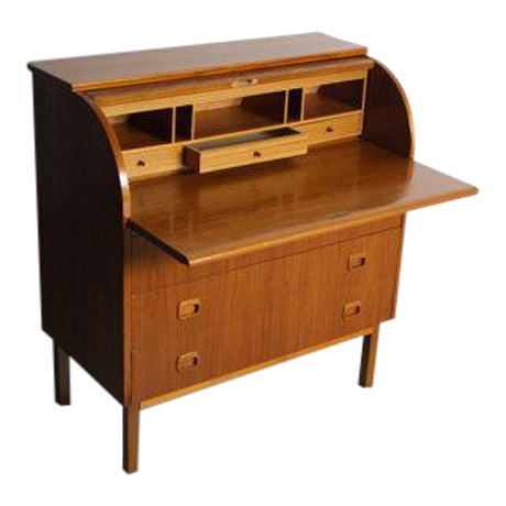 Danish Modern Teak Secretary Desk In Style of Egon Ostergaard - Image 1 of 5