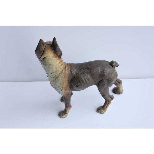 Early 20th Century Antique Cast Iron Boston Terrier Dog Doorstop For Sale - Image 5 of 6