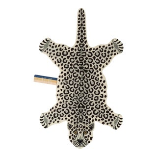 Doing Goods Snowy Leopard Rug Large For Sale