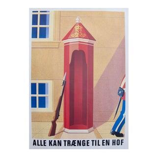 Original 1980's Danish Design Poster, Copenhagen Royal Guard