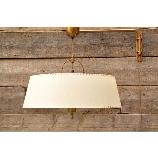 "1940s Amba ""Lyss"" Swing-Arm Wall Lamp, Switzerland, 1940s For Sale - Image 5 of 8"