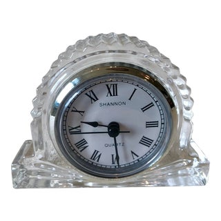 1960s Shannon Crystal Clock For Sale