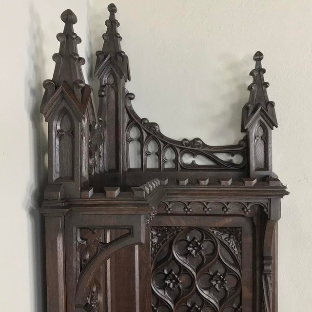 19th Century French Gothic Corner Cabinet For Sale - Image 10 of 13