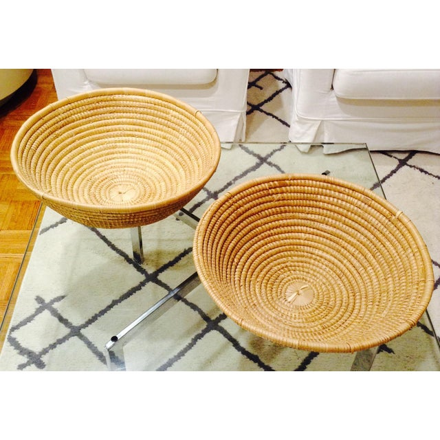 Vintage Handwoven Baskets- a Pair - Image 3 of 4