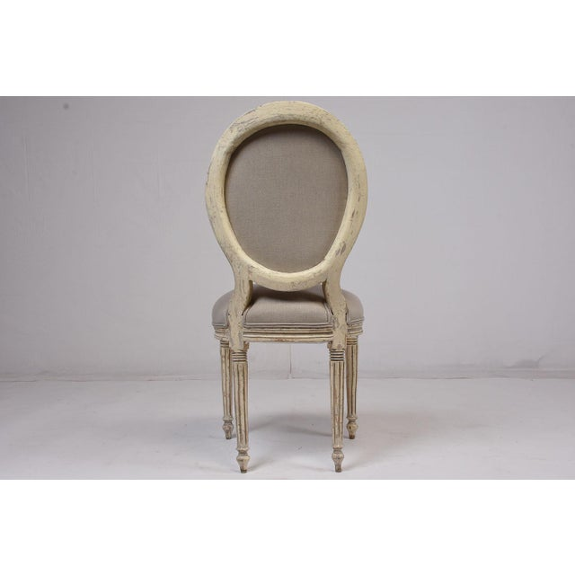 Antique French Louis XVI-Style Dining Chairs - Set of 6 - Image 5 of 10