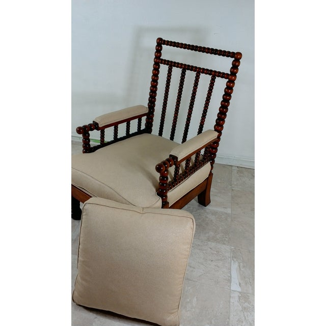 1980s Robert Scott Walnut Accent Chair For Sale - Image 10 of 11