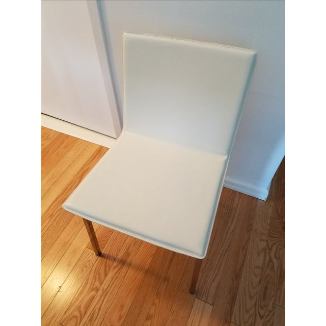 Contemporary CB2 Phoenix Ivory Chair For Sale - Image 3 of 6
