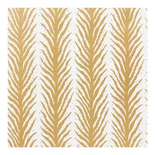Schumacher X Celerie Kemble Creeping FernWallpaper in Gold For Sale