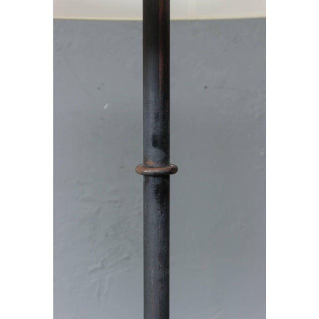 Industrial Large Metal and Iron Industrial Floor Lamp For Sale - Image 3 of 7