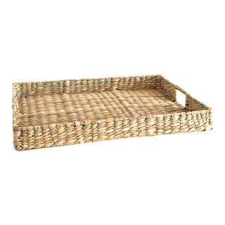Handwoven Rush Tray For Sale