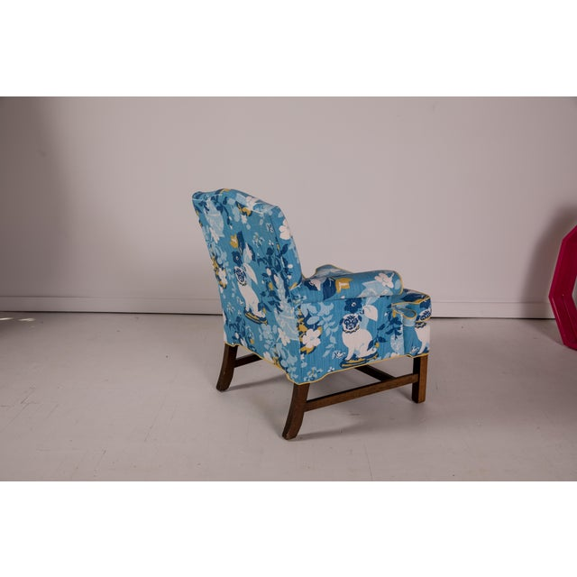 Asian Vintage Mid Century Madcap Cottage Pug Chair For Sale - Image 3 of 11
