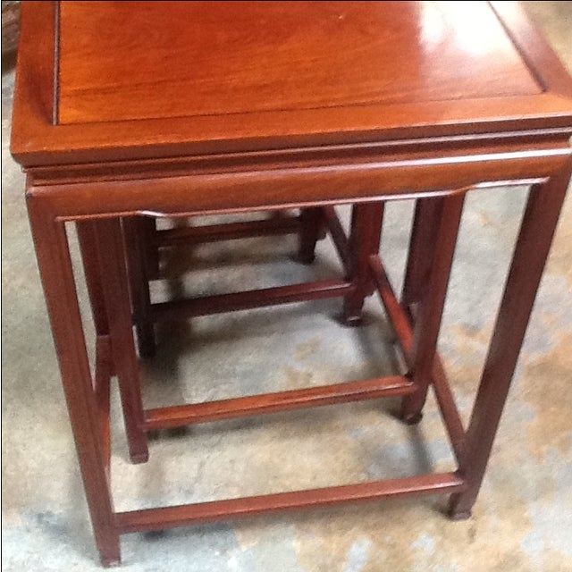 4-Piece Chinese Rosewood Nesting Tables For Sale - Image 5 of 6