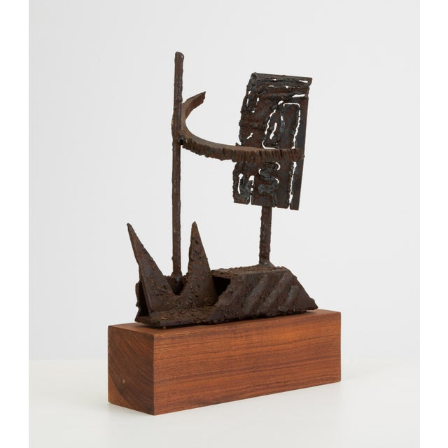 Mounted Brutalist Figurine For Sale - Image 9 of 11