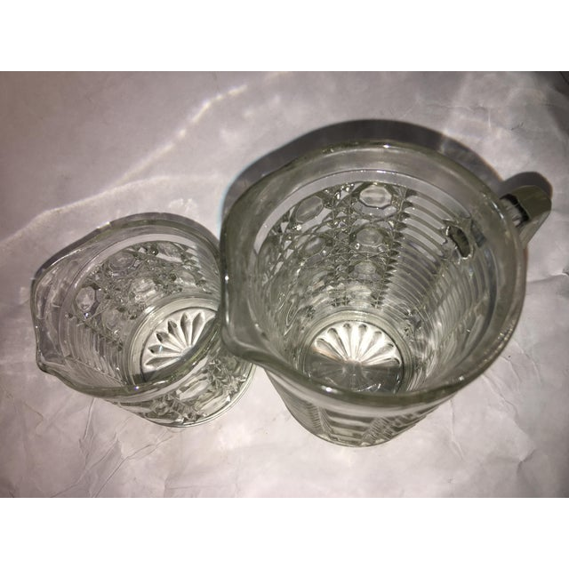 Antique Hobnail Glass Pitcher & Creamer - A Pair - Image 8 of 10