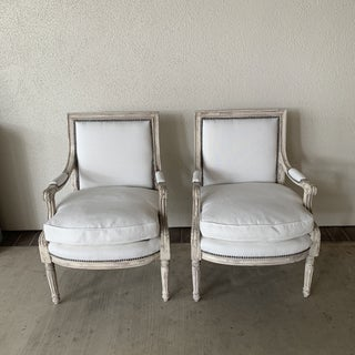 Antique Painted French Chairs - a Pair Preview
