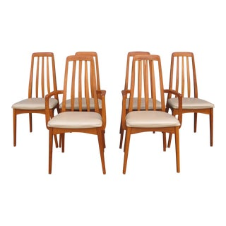 1970s Vintage Svegards Markaryd of Sweden Teak Dining Chairs- Set of 6 For Sale