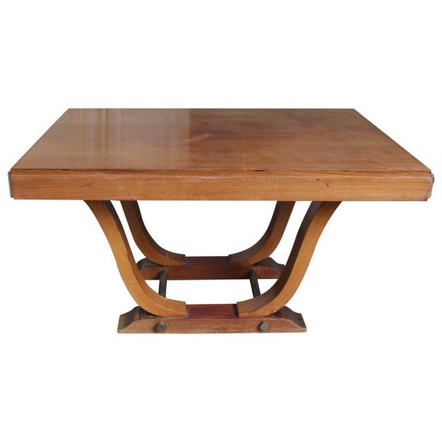 French 1940s Art Deco Style Rosewood Dining Table For Sale - Image 9 of 9