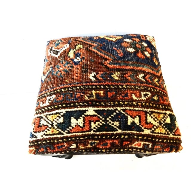 Antique Tribal Qashqa'i Fragment Stool For Sale - Image 4 of 9
