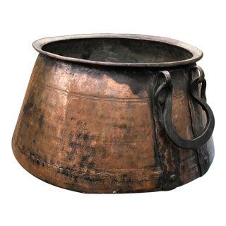 Primitive Hand Made Large Copper Vat For Sale