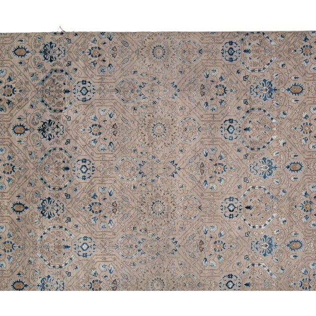 With its element of comfort, artistic statement and functional versatility, this contemporary Indian rug will create a...
