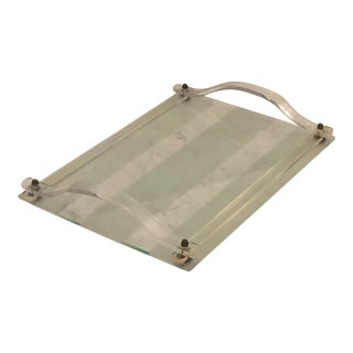 Deco Vanity Tray With Lucite Handles