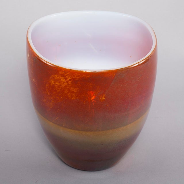 Mid-Century Modern Ermanno Nason for Antonio Da Ros Opaline Murano Glass Bowl For Sale - Image 3 of 10