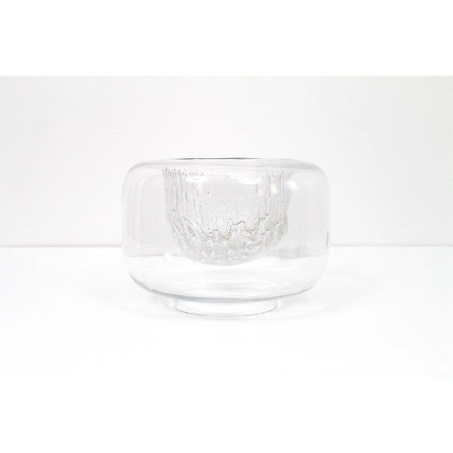 "Large Timo Sarpaneva Iittala ""Finlandia"" Glass Bowl For Sale - Image 11 of 11"