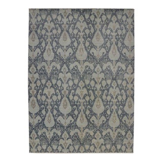New Contemporary Ikat Area Rug With Modern Style, Transitional Ikat Rug - 10'00 X 13'08 For Sale