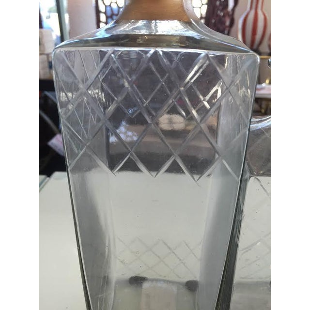 Etched Glass Decorative Decanters - Set of 2 - Image 3 of 5