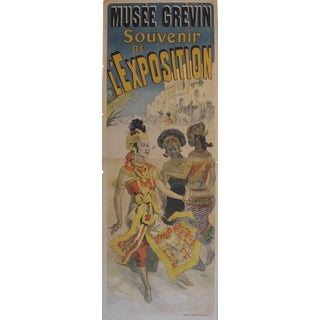 Original French Vintage Poster, Cheret's Musee Grevin 1891 For Sale