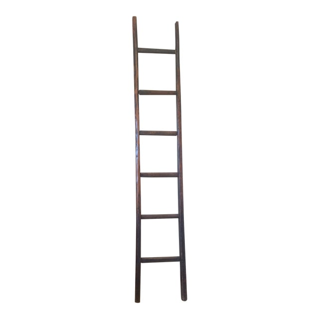 Tall Wooden Asian Ladder For Sale