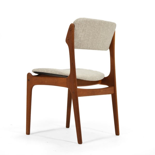 """1960s Erik Buch """"Model 49"""" Teak Dining Chairs Set of Ten For Sale - Image 5 of 8"""
