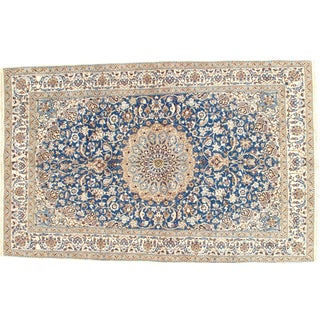 Vintage Genuine Nain Area Rug - 5′4″ × 8′4″ For Sale