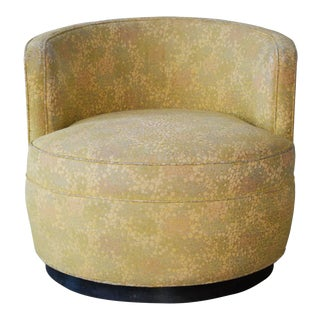 Edward Wormley Dunbar Upholstered Swivel Chair