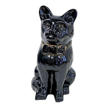 Life-Sized Antique Staffordshire Jackfield Cat For Sale