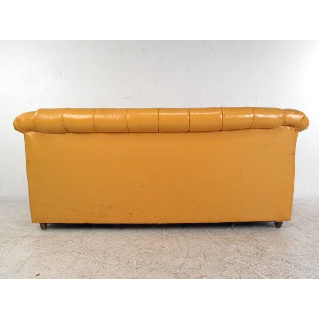 Mid-Century Modern Tufted Chesterfield Sofa For Sale - Image 5 of 10