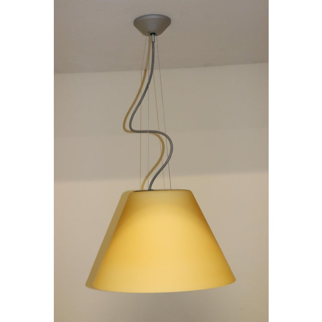 Mid-Century Modern Mid-Century Modern Pendant Lamp by Carlo Nason for Itre Murano Amber Glass For Sale - Image 3 of 12