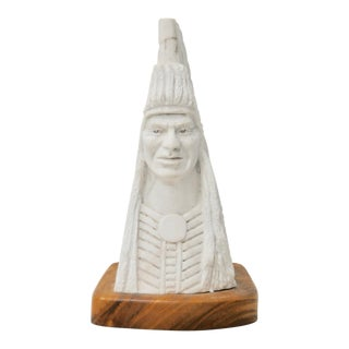 Adam Fortunate Eagle (Native American, B.1929) Marble Sculpture For Sale