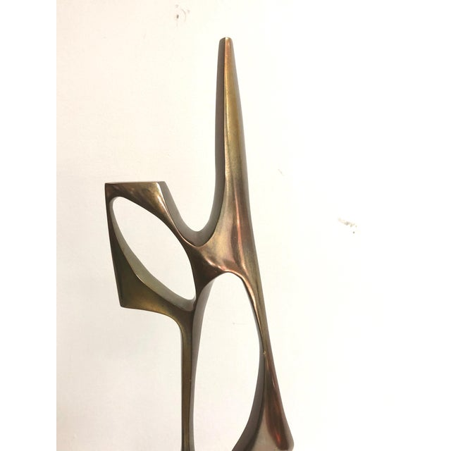 1970s Modernist Bronze Abstract Sculpture by Bolte For Sale - Image 5 of 11
