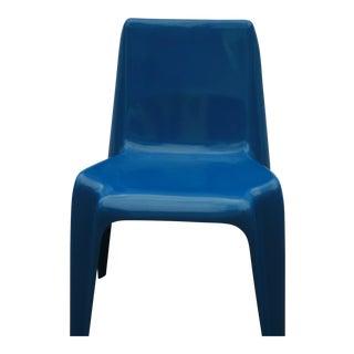 1960s Vintage Helmut Batzner Blue Space Age Bofinger Chair For Sale