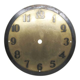 Vintage Brass & Metal Clock Face