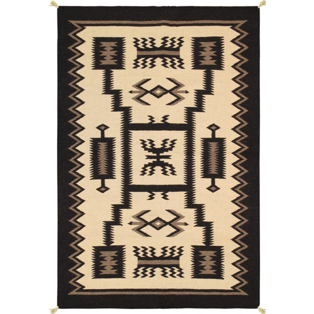 "Navajo Decorative Hand-Woven Rug - 3'11"" X 6'1"" - Image 1 of 3"
