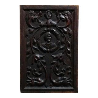 19th century Renaissance carved Oak Wall Plaque