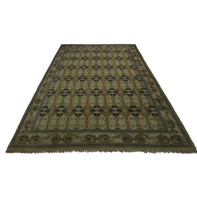 Unique Vintage Hand Knotted Wool Spanish Rug