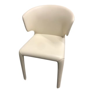 White Leather Cassina 369 Hola Chair For Sale